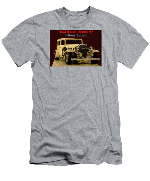 Men's T-Shirt (Slim Fit) featuring the photograph 1932 Buick 4door Sedan by B Wayne Mullins
