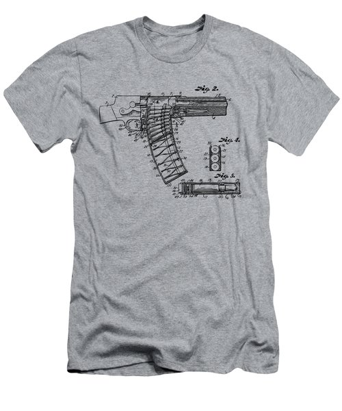 Men's T-Shirt (Athletic Fit) featuring the digital art 1937 Police Remington Model 8 Magazine Patent Minimal - Vintage by Nikki Marie Smith