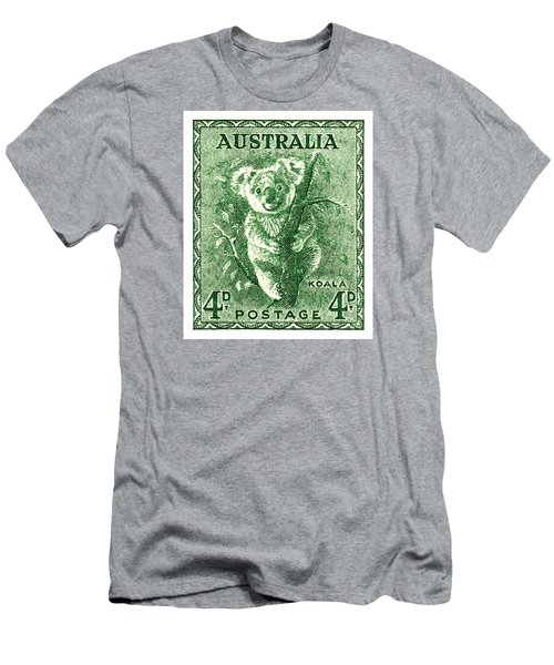 1940 Australia Koala Postage Stamp Men's T-Shirt (Athletic Fit)