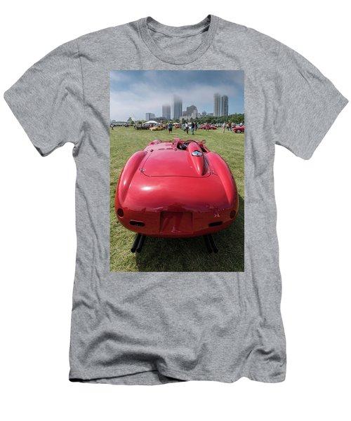 Men's T-Shirt (Slim Fit) featuring the photograph 1956 Ferrari 290mm - 2 by Randy Scherkenbach