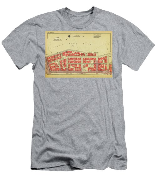 Men's T-Shirt (Athletic Fit) featuring the photograph 1956 Inwood Map  by Cole Thompson