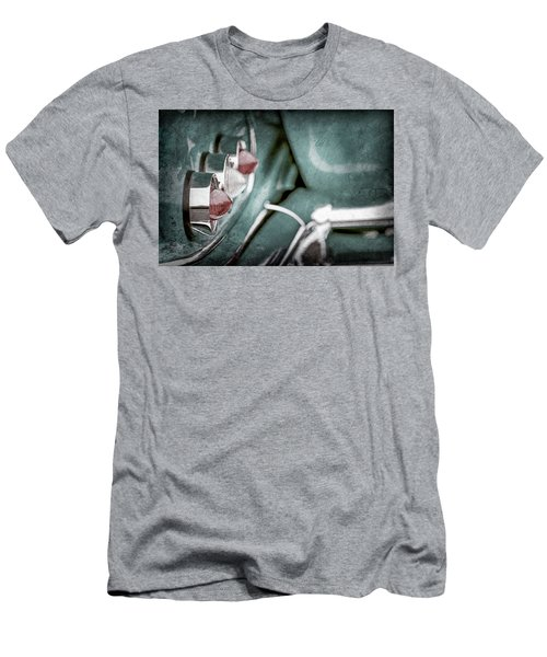 Men's T-Shirt (Slim Fit) featuring the photograph 1958 Chevrolet Impala Taillight -0544ac by Jill Reger