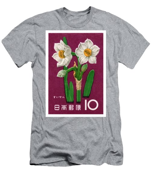 1961 Japan Narcissus Postage Stamp Men's T-Shirt (Athletic Fit)