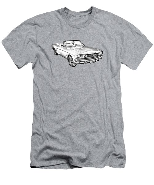 1965 Red Ford Mustang Convertible Drawing Men's T-Shirt (Athletic Fit)