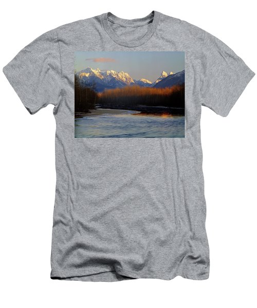 1m4525 Skykomish River And West Central Cascade Mountains Men's T-Shirt (Athletic Fit)