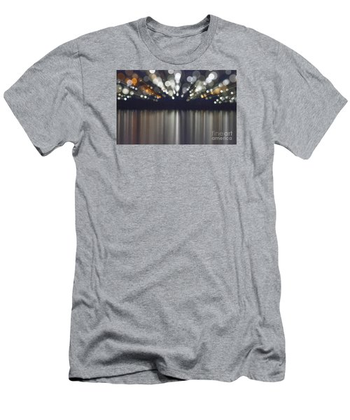 Abstract Light Texture With Mirroring Effect Men's T-Shirt (Athletic Fit)