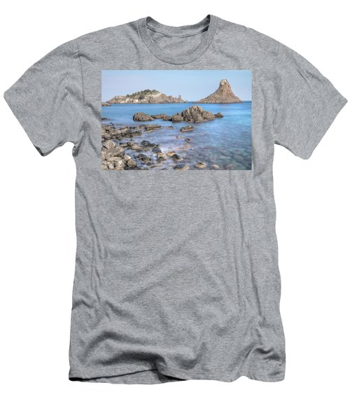Aci Trezza - Sicily Men's T-Shirt (Slim Fit) by Joana Kruse