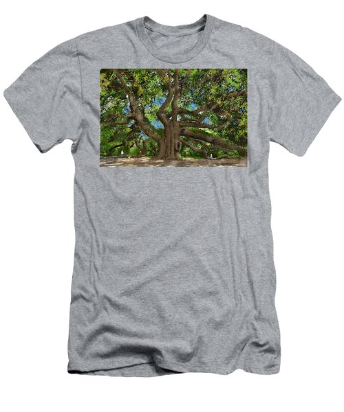 Men's T-Shirt (Slim Fit) featuring the drawing Angel Oak by Jim Hubbard