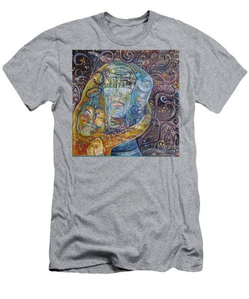 2 Angels Hugging Environmental Warrior Goddess Men's T-Shirt (Athletic Fit)