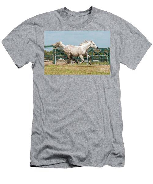 Arabian Horse Running Men's T-Shirt (Athletic Fit)