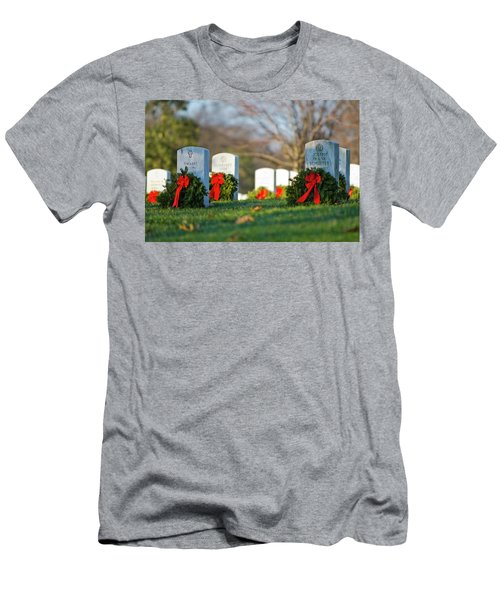 Arlington National Cemetery At Christmas Men's T-Shirt (Athletic Fit)