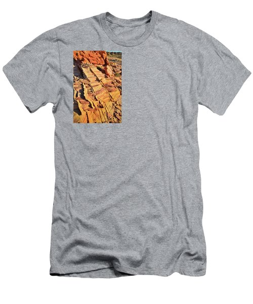Men's T-Shirt (Slim Fit) featuring the photograph Bands Of Color In Valley Of Fire by Ray Mathis