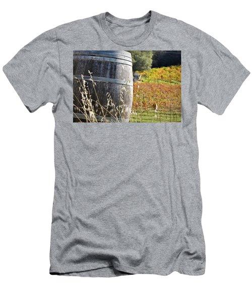 Barrel In The Vineyard Men's T-Shirt (Athletic Fit)