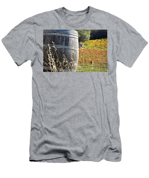 Barrel In The Vineyard Men's T-Shirt (Athletic Fit)