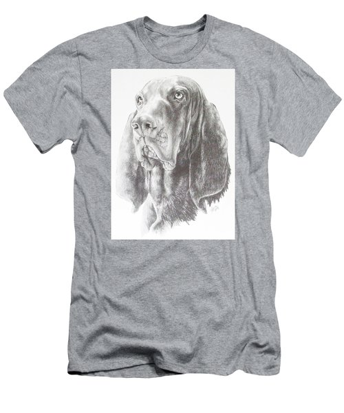 Black And Tan Coonhound Men's T-Shirt (Slim Fit) by Barbara Keith