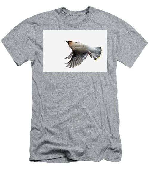 Men's T-Shirt (Slim Fit) featuring the photograph Bohemian Waxwing  by Mircea Costina Photography