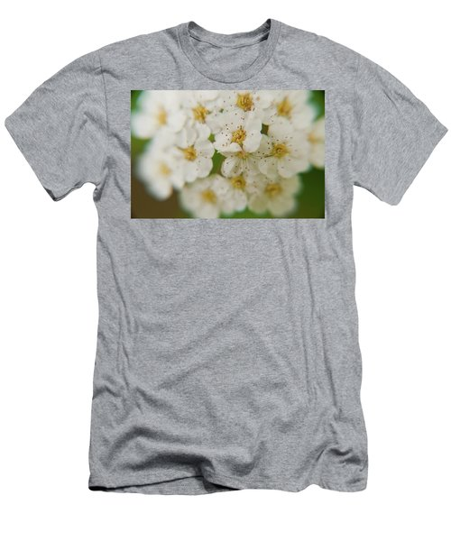Men's T-Shirt (Athletic Fit) featuring the photograph Bridal Veil Spirea by Brenda Jacobs