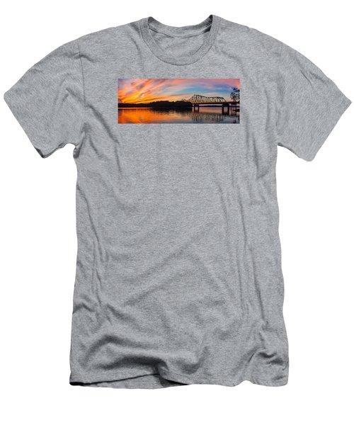 Browns Bridge Sunset Men's T-Shirt (Slim Fit) by Michael Sussman