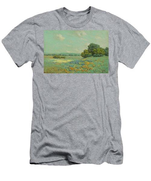 California Poppy Field Men's T-Shirt (Athletic Fit)