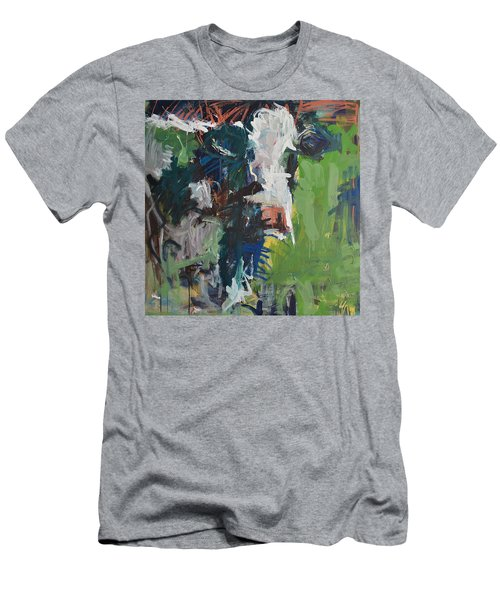 Cow Painting Men's T-Shirt (Athletic Fit)