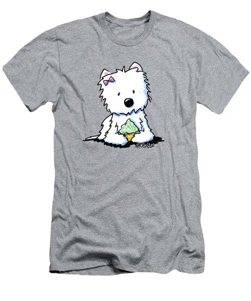 Cupcake Westie Men's T-Shirt (Athletic Fit)