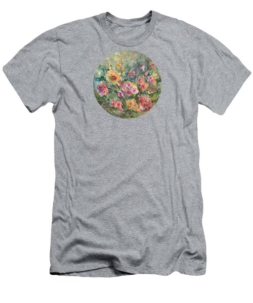 Floral Painting Men's T-Shirt (Athletic Fit)