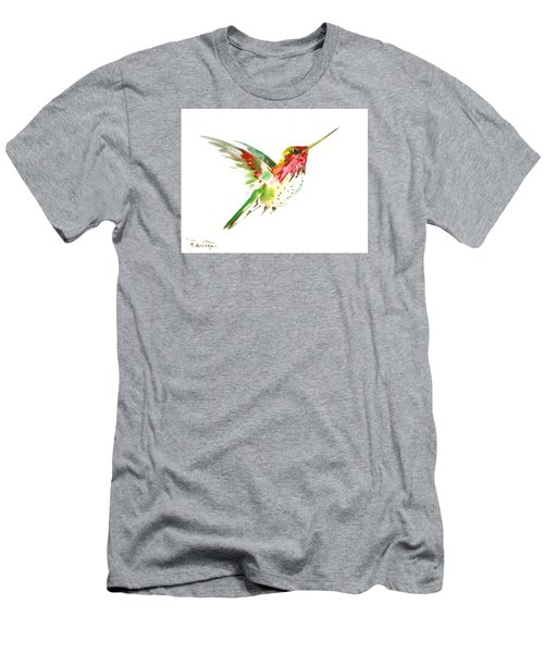 Flying Hummingbird Men's T-Shirt (Athletic Fit)