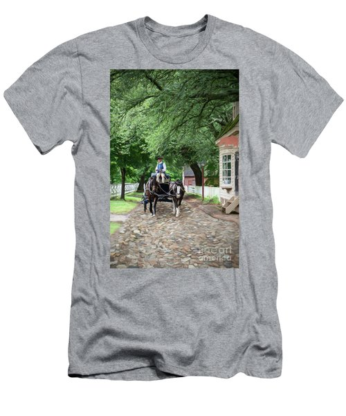 Horse Drawn Wagon Men's T-Shirt (Athletic Fit)