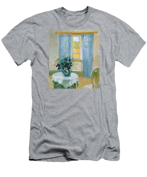 Interior With Clematis Men's T-Shirt (Athletic Fit)