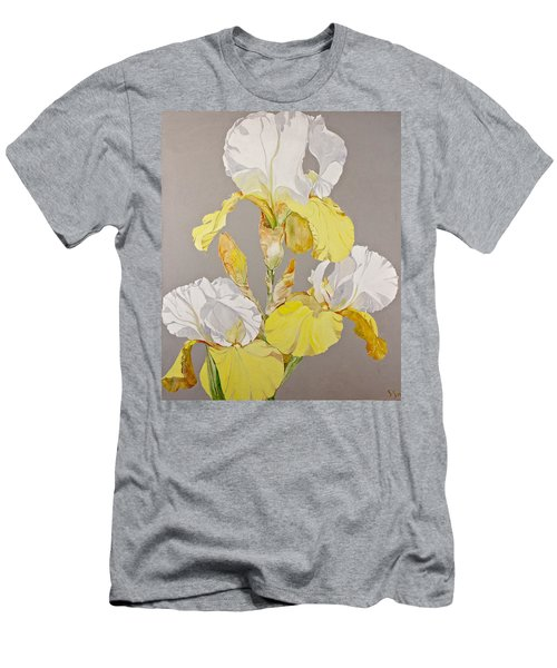 Irises-posthumously Presented Paintings Of Sachi Spohn  Men's T-Shirt (Slim Fit) by Cliff Spohn