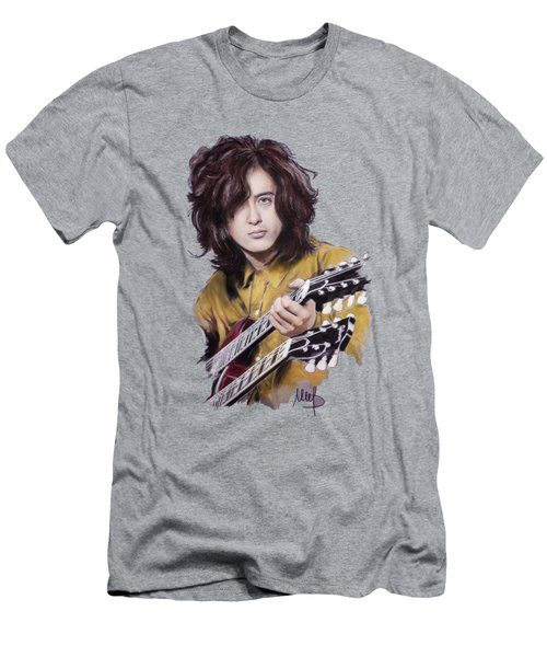 Jimmy Page Men's T-Shirt (Slim Fit) by Melanie D