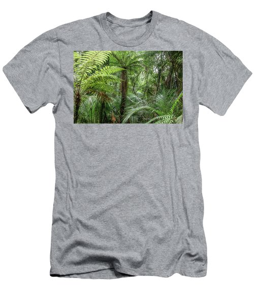 Men's T-Shirt (Slim Fit) featuring the photograph Jungle Ferns by Les Cunliffe