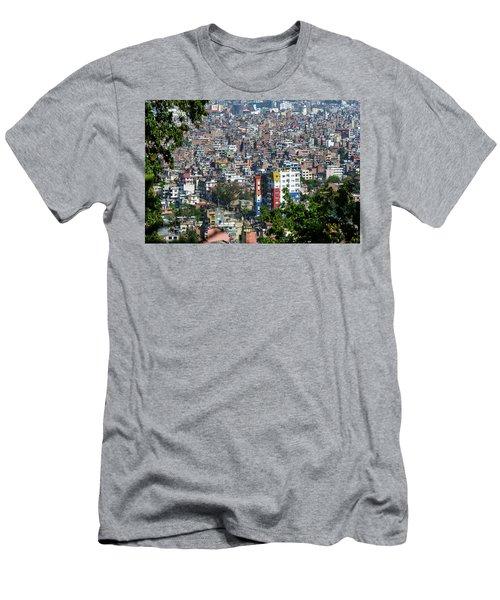 Kathmandu City In Nepal Men's T-Shirt (Athletic Fit)