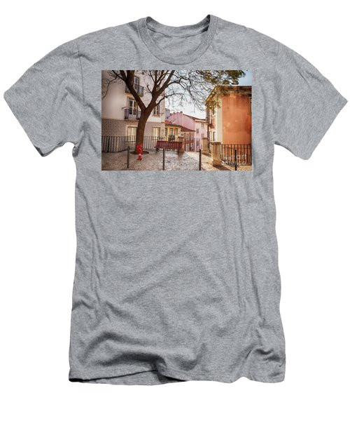 Men's T-Shirt (Athletic Fit) featuring the photograph Lisbon's City Street by Ariadna De Raadt