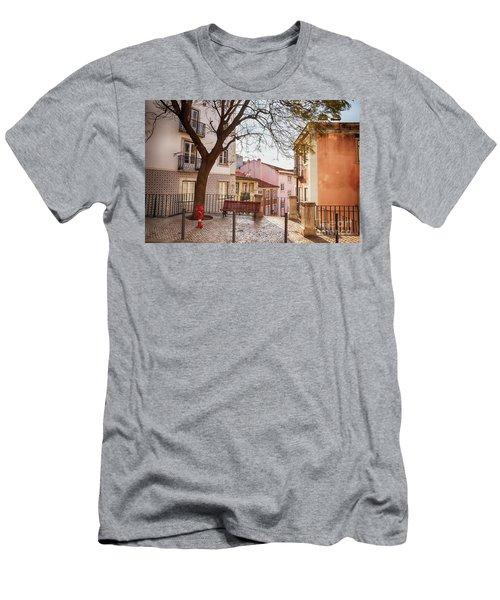 Lisbon's City Street Men's T-Shirt (Athletic Fit)