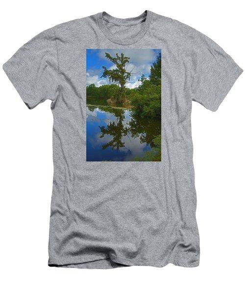 Louisiana  Bald Cypress Tree Men's T-Shirt (Slim Fit) by Ronald Olivier