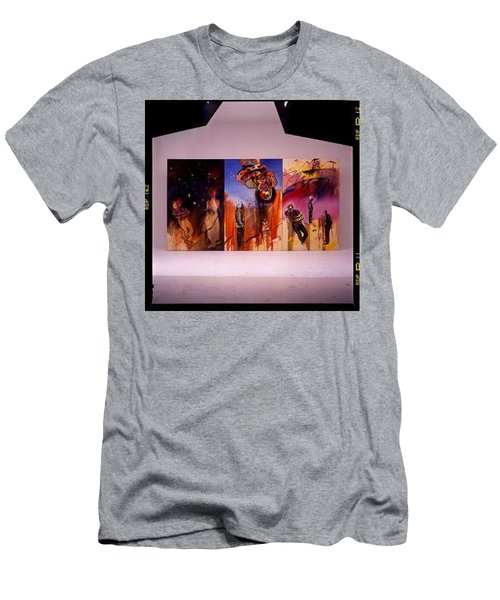 Men's T-Shirt (Slim Fit) featuring the painting Love Hurts by Charles Stuart