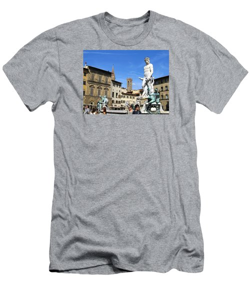 Neptune Fountain Florence Men's T-Shirt (Athletic Fit)