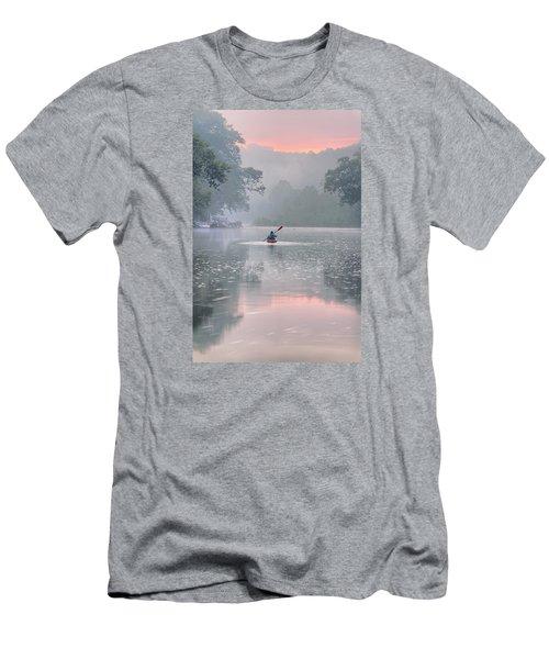 Paddling In Mist Men's T-Shirt (Slim Fit) by Robert Charity