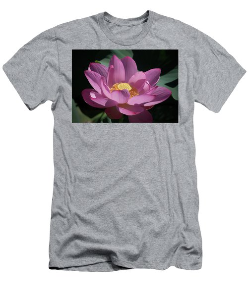 Pink Lotus Blossom Men's T-Shirt (Athletic Fit)