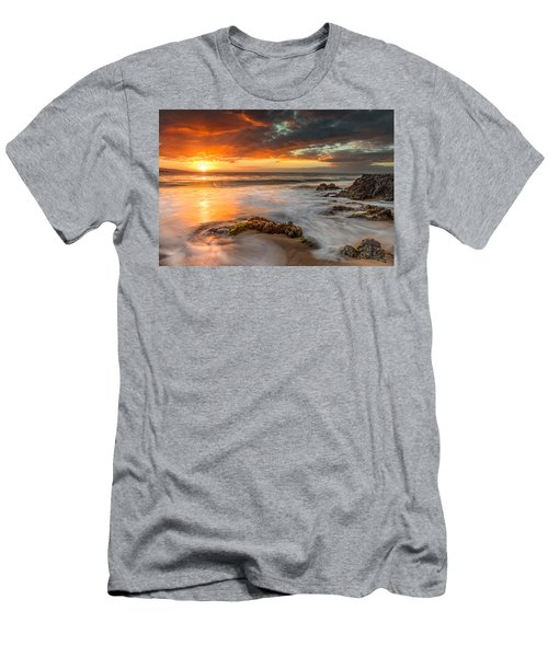 Poolenalena Sunset Men's T-Shirt (Slim Fit)