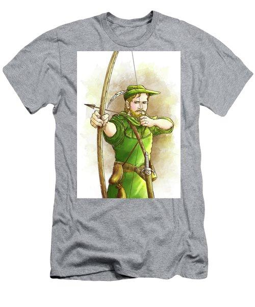 Robin Hood The Legend Men's T-Shirt (Slim Fit) by Reynold Jay