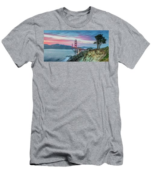 The Golden Gate Men's T-Shirt (Slim Fit) by JR Photography