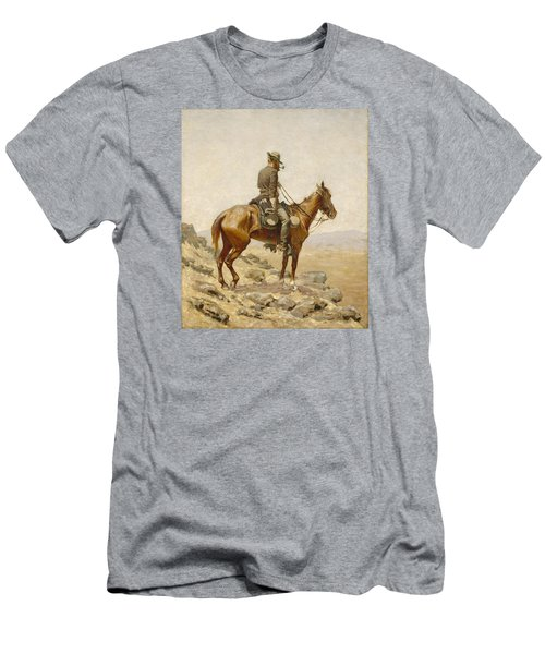 The Lookout Men's T-Shirt (Slim Fit) by Frederic Remington
