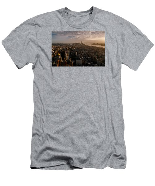 Men's T-Shirt (Slim Fit) featuring the photograph The View  by Anthony Fields