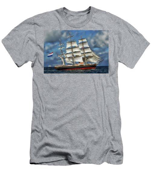 Three Mast Schooner Men's T-Shirt (Athletic Fit)