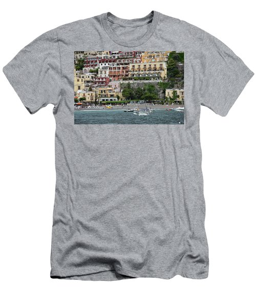 Water Taxi From Amalfi To Positano Men's T-Shirt (Athletic Fit)
