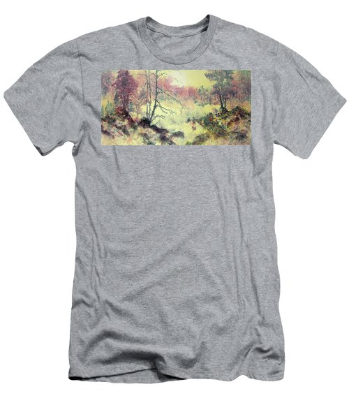 Woods And Wetlands Men's T-Shirt (Slim Fit) by Carolyn Rosenberger