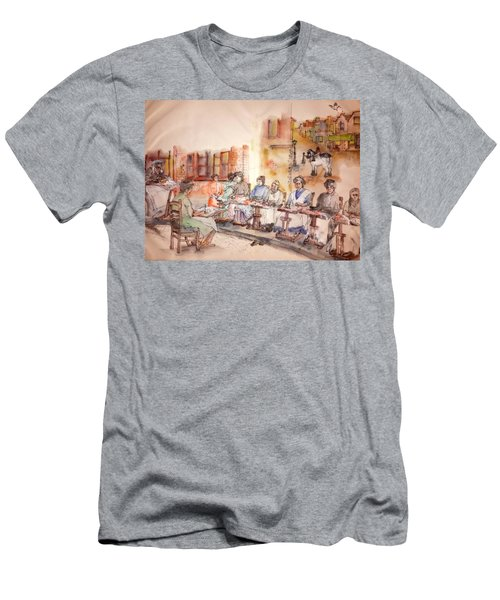 Men's T-Shirt (Slim Fit) featuring the painting Of Clogs And Windmills Album by Debbi Saccomanno Chan