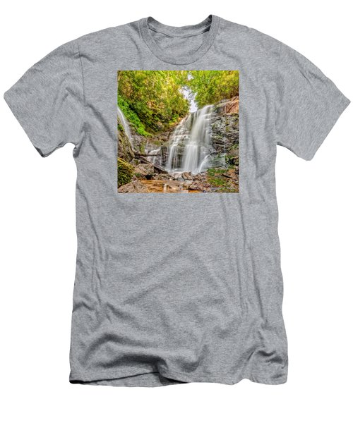 Men's T-Shirt (Slim Fit) featuring the photograph Rocky Falls by Christopher Holmes